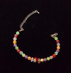 Colorful Beaded Bracelet Girls Jewelry by summitskycreations, $7.00