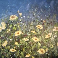 'I love to be around you' by Marie Mills 100cm x 100cm oil on linen £1450 www.lyndhurstgallery.co.uk