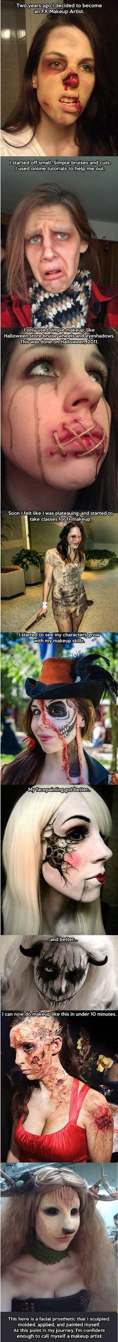 Awesome make-up FX artist