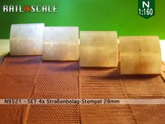 SET Straßenbelag-Stempel (N by railNscale on Shapeways. Learn more before you buy, or discover other cool products in Scenery.