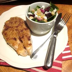 Atlantic Salmon Asian Style with a Slimmer's salad-I'd substitute a bit, but a great healthy meal.