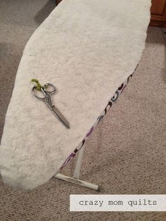 crazy mom quilts: one way to make an ironing board cover