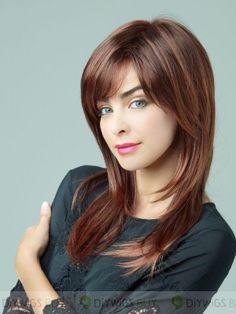 Passionné Lisse Longue Capless Cheveux Naturels Perruques