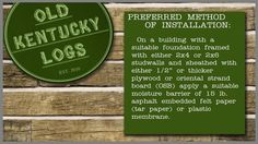 A+step+by+step+guide+intended+to+help+customers+understand+the+simplicity+and+ease+of+installing+Old+Kentucky+Logs+concrete+log+siding.  For+more+information+visit+www.oldkentuckylogs.com