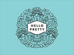 Hello Pretty floral Logo