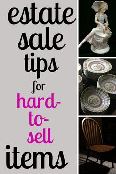 for Hard-to-Sell Items Finally - ideas for what to do with all that brown furniture!Finally - ideas for what to do with all that brown furniture! Garage Sale Pricing, Garage Sale Tips, Selling Antiques, Selling On Ebay, Garage Sale Organization, Sell Your Stuff, Things To Sell, Flea Market Booth, Antique Appraisal
