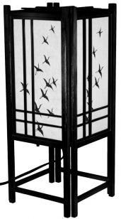 "Master Bedroom~ 18"" Cranes Shoji Lamp"