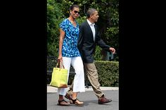 Budget-Friendly Style  Michelle Obama wears a Gap dress as a shirt on June 10, 2011. The $30 dress sold out within days.