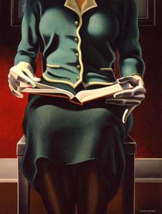 'Perusal' by California-based American artist Kenton Nelson. via Joni Rogers