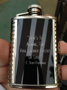 """Here's to alcohol, the rose colored glasses of life . Scott Fitzgerald quote on the prevalent pocket flasks of the Bones of Paris era Scott Fitzgerald Quotes, Zelda Fitzgerald, Rose Colored Glasses, In Vino Veritas, Picture Quotes, Make Me Smile, My Love, Words, How To Make"