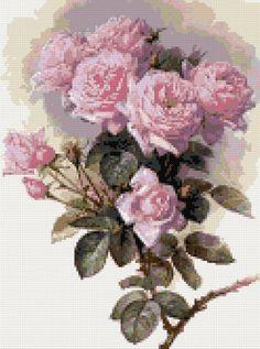 Batch of roses cross stitch kit or pattern
