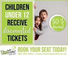 Under 12 years of age? Parents, just in case you missed it, we want to remind you of our kiddies special. All children under the age of 12 receive 50% off on all their tickets. Now that sounds like a bargain! Book your child's discounted seat online or contact us on 087 094 9444 to make a booking. #limetimeshuttle #childrendiscount #shuttleservice