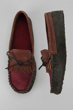 Fringe Suede Moccasin  #UrbanOutfitters