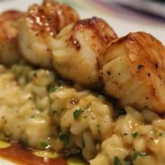 Caramelized Scallops & Risotto with Fino Sherry