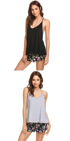68634807f7 Sexy lingerie pajamas set women sleepwear cami pajama set pj shorts  nightwear suits lady home clothes