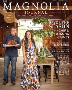 It's here! Check out the cover of our first issue of The Magnolia Journal! On newsstands October 11! #themagnoliajournal