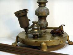 Floor Lamp Parts, Vintage Swing Arm Complete Floor Lamp In Parts   DIY  Restoration,