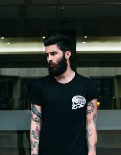 mens fashion style. I once heard a thing ab beards and tattoos... Not too bad