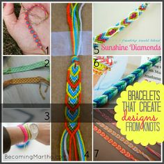 20 Friendship Bracelet Tutorials from 1 Supply - Becoming Martha