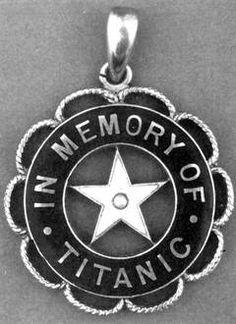 A memorial pin, presumably a gift from the White Star Line to crew members who survived.