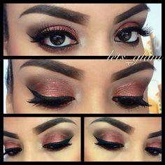 Copper eye look