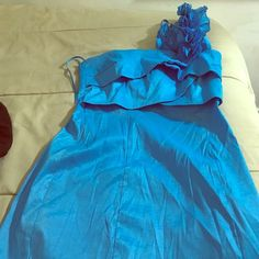baby blue floral Prom dress worn once. Likely new, negotiable Alyn Paige Dresses Prom