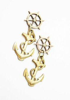 Nautical Anchor Earrings <3