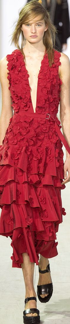 Michael Kors Spring 2016 Ready-To-Wear Only Fashion, Red Fashion, Fashion Week, Paris Fashion, Runway Fashion, Fashion Models, Fashion Show, Fashion Design, Gypsy Fashion
