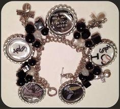 LaDeDa4U~Bonnie White Sox MLB Custom Charm BottleCap Bracelet Jewelry BASEBALL