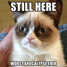 Still here. Worst apocalypse ever.