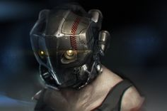 future, robot, cyberpunk, cyborg, mask, helmet, anti-utopia, implant, futuristic, dystopia, Maskedman by ~nathantwist on deviantART