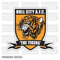 Hull City FC Tigers England Vinyl Sticker Decal