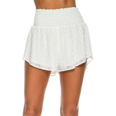 L Space Summer Of Love Shorts ($99) ❤ liked on Polyvore featuring white