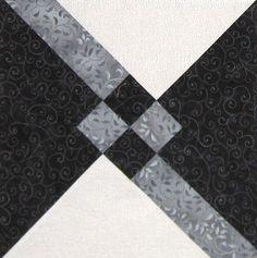 Granny's Choice Quilt Block | #quiltblock #quilt #blackandwhite