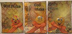 Hekta på papirkunst: Smileys og  påske ATC