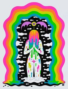 Oliver hibert illustration in 2019 psychedelic art, psychedelic drawings, i Art And Illustration, Psychedelic Art, Arte Inspo, Kunst Inspo, Dope Kunst, Trippy Painting, Stoner Art, Psy Art, Hippie Art