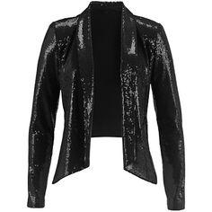 Blazer mit Pailletten - Cooler schwarzer Blazer mit Pailletten und modernem Schnitt. Super für ein modisches Festtagsoutfit. - ab 34,99€