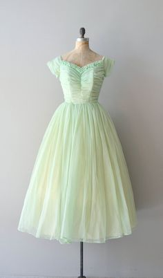 Vintage 1950s mint green chiffon party dress <3 | from DearGolden on Etsy