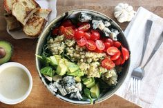 Power Cobb Salad with Roasted Garlic Vinaigrette (Vegetarian)