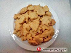 Cheese crackers του Άκη - #sintagespareas #cheesecrackers Snack Recipes, Snacks, Greek Recipes, Other Recipes, Crackers, Biscuits, Cereal, Chips, Cookies