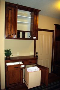 """The """"drop zone' in the rear entry foyer is the prefect place to drop the mail, your keys and what ever else you have in your arms. Isn't this a better place to drop your stuff than the kitchen island or table?"""