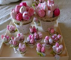 Babies Souvenirs Handmade Flowers, Diy Flowers, Fabric Flowers, Flower Pots, Dyi Crafts, Handmade Crafts, Fabric Crafts, Shabby Chic Crafts, Baby Shower Favors