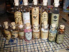 Punk Aspie Art: Potion bottles- We Carry these in Brazen Arts Gallery in Fallbrook