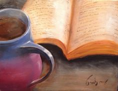 Oil on canvas. Davidson Nc, Picnics, Bicycles, Oil On Canvas, Mugs, Books, Painting, Art, Livros