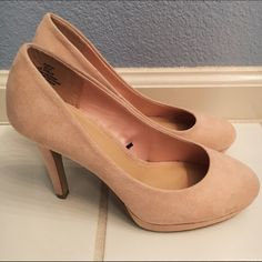 Suede nude heels Suede nude heels from h&m. Worn only once. Shoe says size 6 but fits like a 7. H&M Shoes Heels