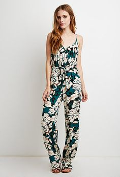 Watercolor Floral Surplice Jumpsuit | Forever 21 | #thelatest