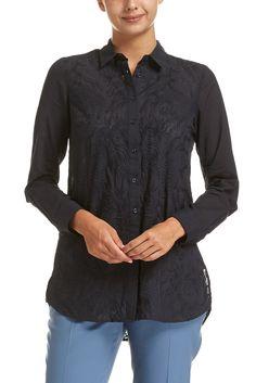 Amy Longline Embroidery Shirt