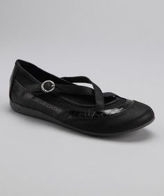 Take a look at this Black Rhinnie Flat - Women by Fall Blow-Out: Women's Shoes on @zulily today!