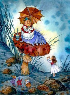 Irina Petelina (b.1964) —  Alice in Wonderland  (661x900)