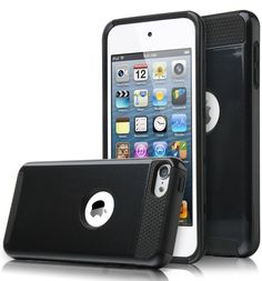 iPod Touch 6 Case,iPod Touch 5 Case,DIOS CASE(TM) Shock Absorbent Hard PC Outer Shell with Soft Inner Rubber Dual Layer Hybrid Armor Defender Cover for Apple iPod Touch 6th 5th Gen (Black/Black) *** Read more reviews of the product by visiting the link on the image.